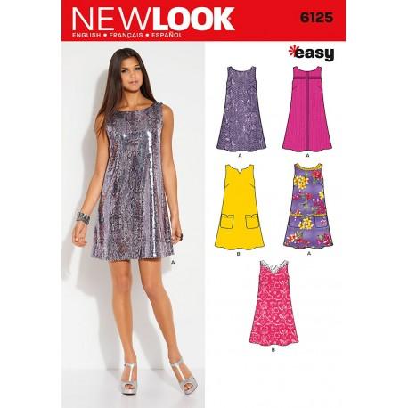 Kort kjole 5 varianter EASY Snitmønster