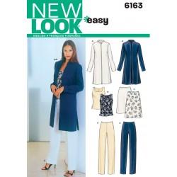 Frakke, top og bukser Snitmønster New look