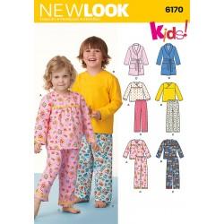 Pyjamas og badekåbe dreng/pige Snitmønster