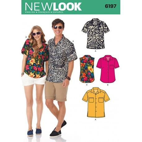 Skjorte M/K Snitmønster