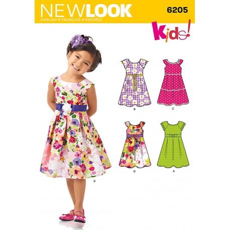 e23ceaf2ac8c Pige kjole 4 varianter Snitmønster