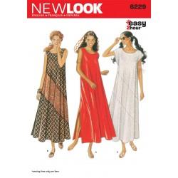 Lang kjole 3 varianter