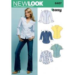 Skjortebluse Snitmønster NEW LOOK EASY