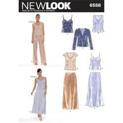 Jakke, bluse og bukser Snitmønster NEW LOOK