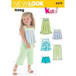 Pigetøj kjole,bukser og top Snitmønster NEW LOOK EASY