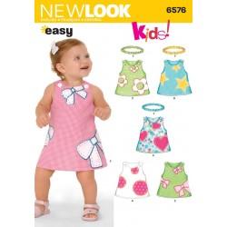 Babykjole m/hårbånd Snitmønster NEW LOOK EASY