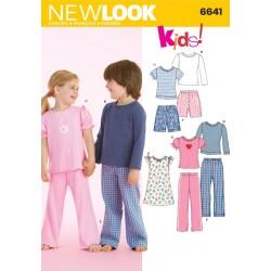 Hjemmesæt/pyjamas børnetøj Snitmønster NEW LOOK