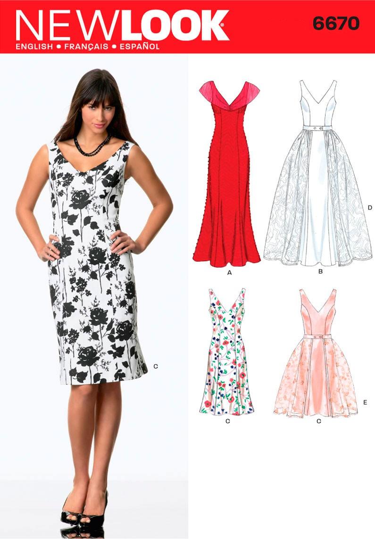 ffdc7c95710e Brudekjole kjole 4 varianter Snitmønster NEW LOOK