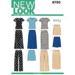 Nederdel,bukser og bluse Snitmønster NEW LOOK easy
