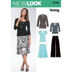Jakke,nederdel,bukser og bluse Snitmønster NEW LOOK easy