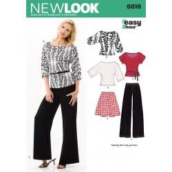 Bluse, bukser og nederdel Snitmønster NEW LOOK easy
