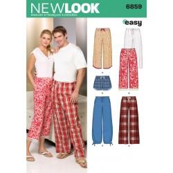 Pyjamas bukser M/K snitmønster NEW LOOK easy