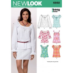 Bluse 6 varianter snitmønster NEW LOOK easy