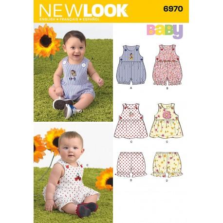 Babytøj,kjole,bukser og dragt Snitmønster NEW LOOK