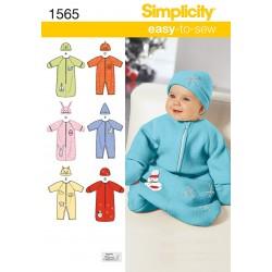 Babydragt og hue Snitmønster easy