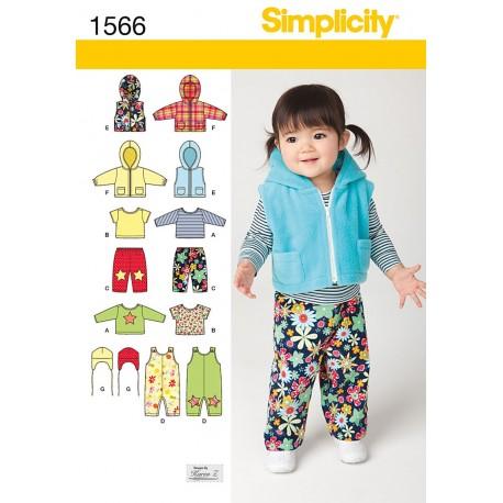 Babyjakke, bukser, hue og vest Snitmønster