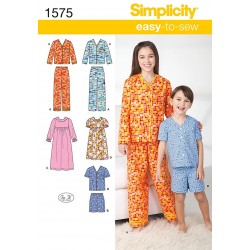 Pyjamas og natkjole, børn Snitmønster