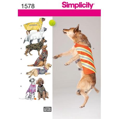 Tøj til store hunde Snitmønster