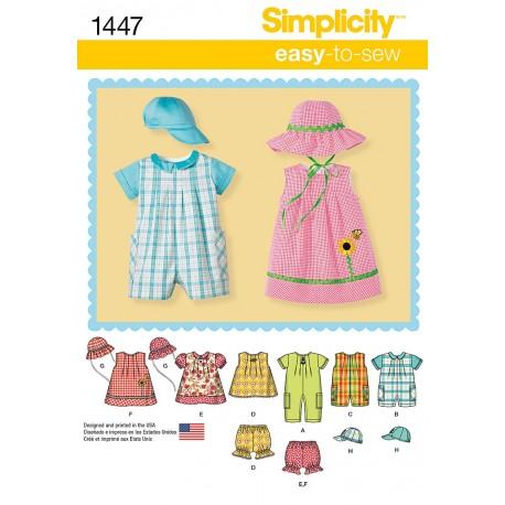 Babytøj kjole og dragt Snitmønster easy