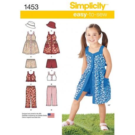 Pige spencer, shorts og hat snitmønster easy