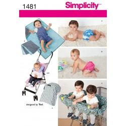 Tæppe og nakkepude til småfolk snitmønster