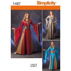 Middelalder kjole 3 forskellige snitmønster