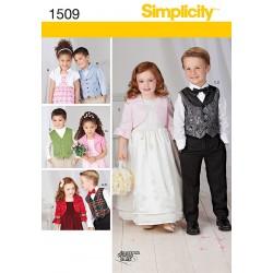 Bolero og vest til børn Simplicity snitmønster