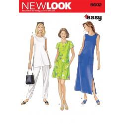 Kjole, bukser, tunika snitmønster NEW LOOK easy