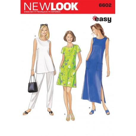 Kjole, bukser, tunika snitmønster NEW LOOK