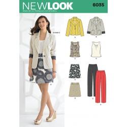 Habitjakke, bukser og nederdel snitmønster NEW LOOK