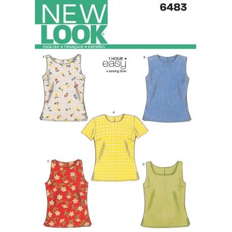 Bluse og top snitmønster NEW LOOK easy