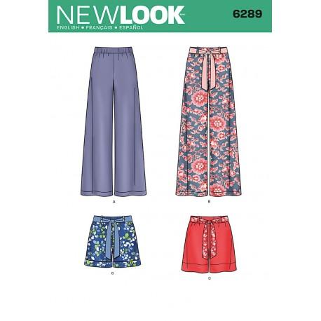 Nederdel og bukser snitmønster NEW LOOK