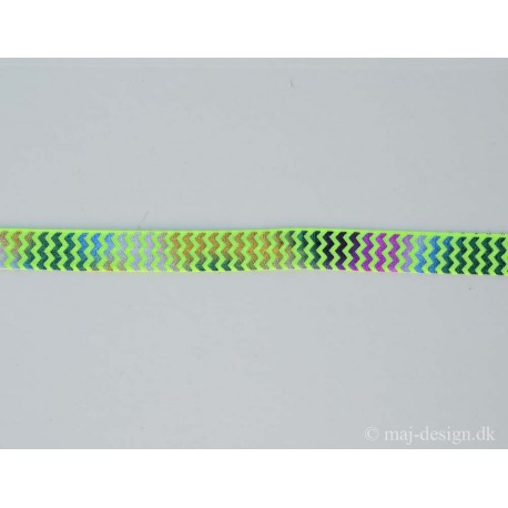 Foldeelastik multifarvet /lime 16mm