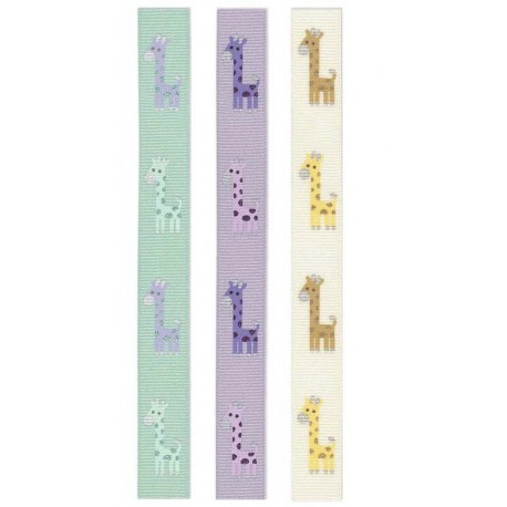 Bånd m/giraf 15mm 3 farver
