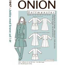 Jakke m/krave ud i ét Onion snitmønster