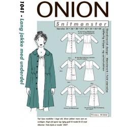 Lang jakke m/underdel onion snitmønster
