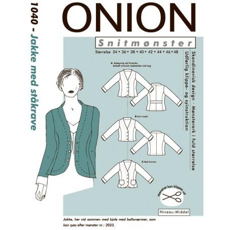 Jakke m ståkrave Onion snitmønster 1040