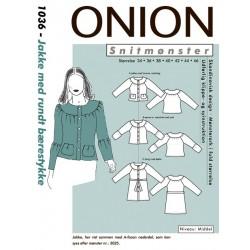 Jakke m/rundt bærestykke Onion snitmønster