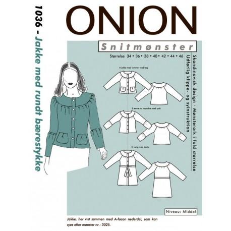Jakke rundt bærestykke Onion snitmønster 1036
