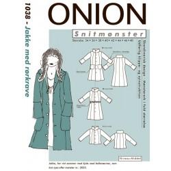 Jakke m/rørkrave Onion snitmønster