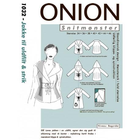Jakke til ulfilt og strik Onion snitmønster 1032