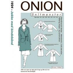 Jakke m/bindebånd Onion snitmønster