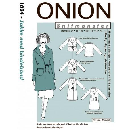 Jakke med bindebånd Onion snitmønster 1024