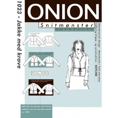 Jakke med krave onion snitmønster 1023