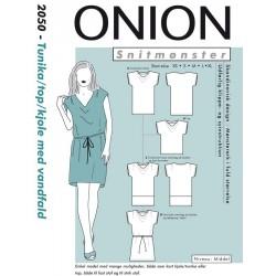 Kjole/tunika/top m/vandfald onion snitmønster