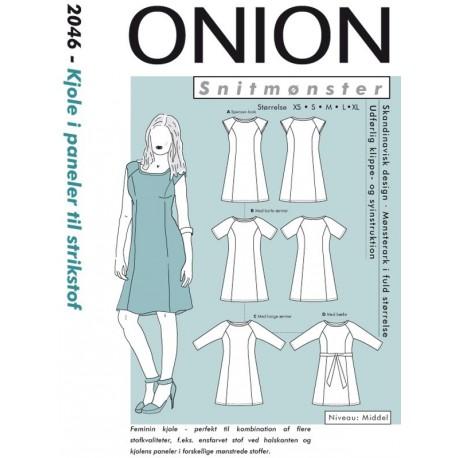 Kjole i paneler strikstof onion snitmønster 2046