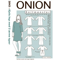 Kjole/top m/2 ærmetyper Onion snitmønster