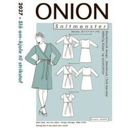 Slå om kjole onion snitmønster