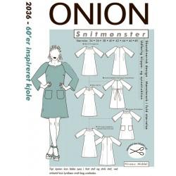 60´er inspireret kjole onion snitmønster 2036