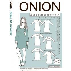 Kjole til Strik stof onion snitmønster